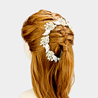 Stone Leaf Cluster Hair Comb