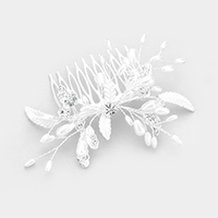 Pearl Leaf Cluster Hair Comb