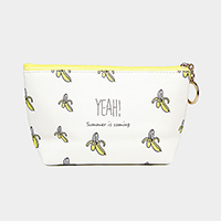 Banana Pattern Print Pouch Bag