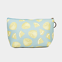 Lemon Pattern Print Pouch Bag