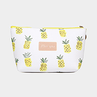 Pineapple Pattern Print Pouch Bag