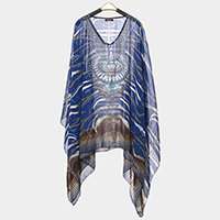 Abstract Pattern Poncho