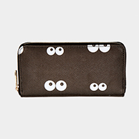 Eyes Print Zipper Wallet