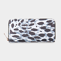 Animal Skin Pattern Print Zipper Wallet