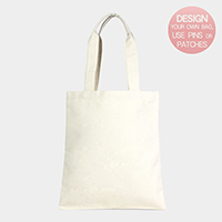 Patternless Plain Cotton Canvas Eco Shopper Bag