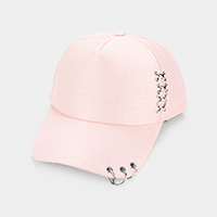 Triple Ring Accented Baseball Cap