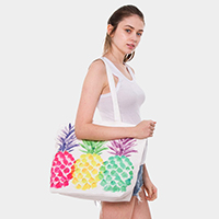 Colorful Pineapple Tote Bag