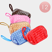 12PCS - Plaid Check Pouch Bags