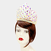 Teardrop Crystal Cluster Pageant Queen Tiara