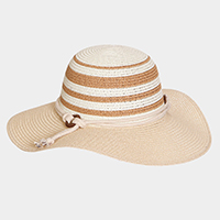 Stripe Floppy Sun Hat