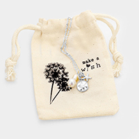 Pearl Sand Dollar Starfish Pendant Necklace Gift Bag Set