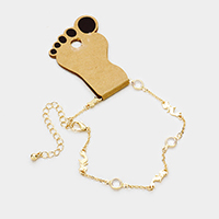 Round Bead Metal Mermaid Station Anklet