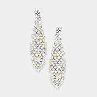 Crystal Rhinestone Pave Statement Evening Earrings