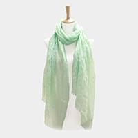 Star Pattern Print Oblong Scarf