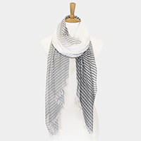Wide Solid Line Oblong Scarf