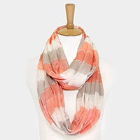 Silver Lurex Color Block Infinity Scarf