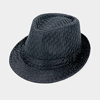 Fishnet Pattern Fedora Hat