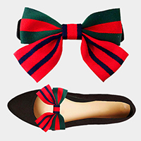 1Pair Grosgrain Bow Shoe Patch