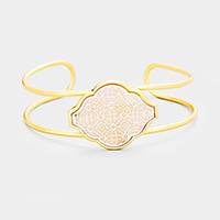 Filigree Mother of Pearl Petal Cuff Bracelet