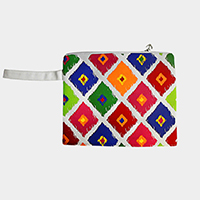 Ikat Diamond Wet Bikini Beach Clutch Bag