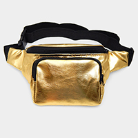 Bling Solid Metallic Fanny Pack