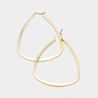 Metal Triangle Hoop Pin Catch Earrings