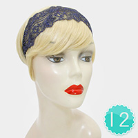12PCS Floral Mesh Stretch Headbands