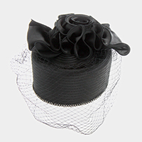 Satin Braid Diamonds on Edge Netting Hat