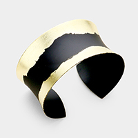Gold Dipped Metal Cuff Bracelet