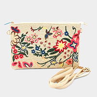 Embroidery Floral Clutch Bag