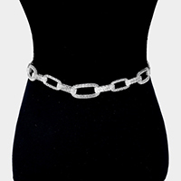 Metal Chain Oval Hoop Link Chain Belt