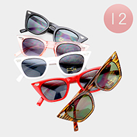 12PCS - Oversized Cat Eye Sunglasses