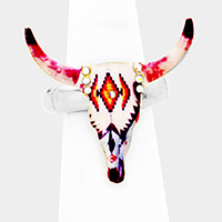 Patterned Steer Head Stretch Ring