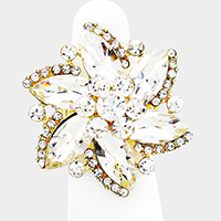 Crystal Whirlwind Flower Stretch Ring