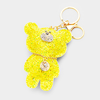 Sequin Cute Bear Key Chain