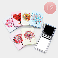12PCS - Tree Rectangle Compact Mirrors