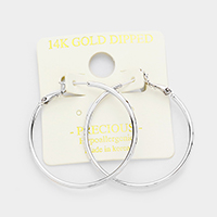 14K Gold Filled Metal Hypoallergenic Hoop Earrings