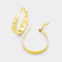 14K Gold Filled Lined Metal Hypoallergenic Hoop Earrings