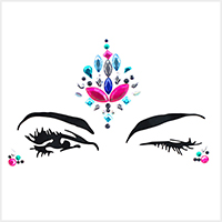 Adhesive Crystal Face Body Jewel Stickers