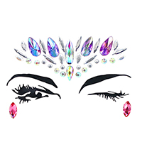 Adhesive Crystal Face Jewel Stickers