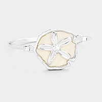 Mother of Pearl Sand Dollar Hook Bracelet