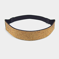 Crystal Rhinestone Pave Stretch Headband