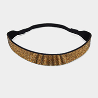 Crystal Rhinestone Pave Stretch Hairband