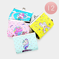 12PCS - Unicorn Coin Clasp Purses