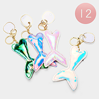 12PCS - Hologram Mermaid Tail Key Chains