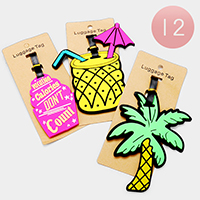12PCS - Pineapple Palm Tree Cupcake Luggage Tags