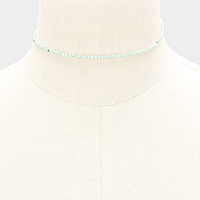 Faceted Beaded Choker Necklace
