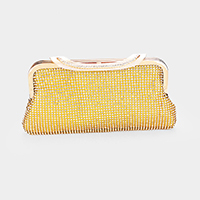 Shimmery Crystal Rhinestone Pave Evening Clutch Bag