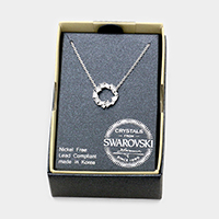 Swarovski Crystal Hoop Pendant Necklace