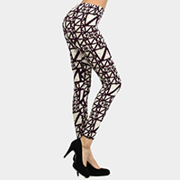 Abstract Patterned Print Leggings